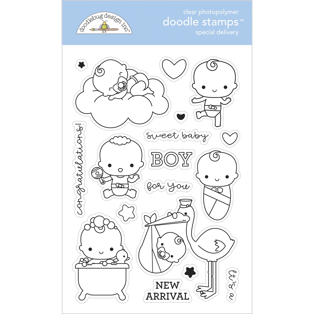 Doodlebug SPECIAL DELIVERY Clear Stamps 6795 zoom image