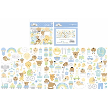 Doodlebug SPECIAL DELIVERY Odds and Ends Ephemera Die Cut Shapes 6806*