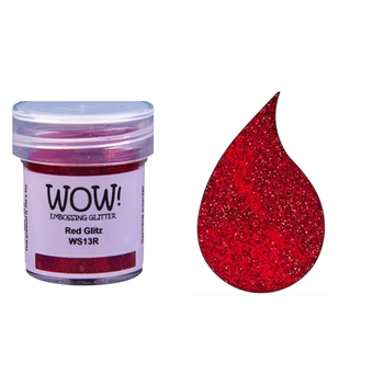 WOW Embossing Glitter RED GLITZ WS13R