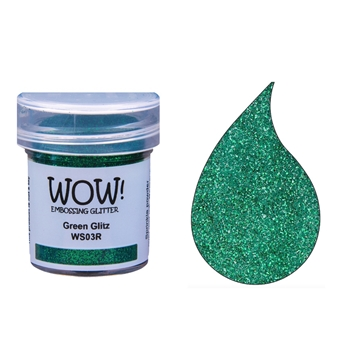 WOW Embossing Glitter GREEN GLITZ WS03R