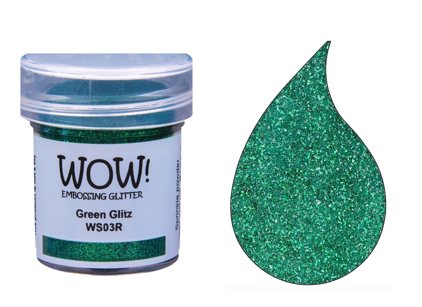 WOW Embossing Glitter GREEN GLITZ WS03R zoom image