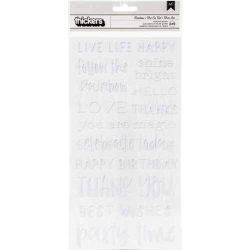 American Crafts LIVE LIFE HAPPY Thickers 736922 Preview Image