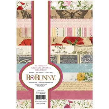 BoBunny BOTANICAL JOURNAL 6 x 8 inch Paper Pad 7311102