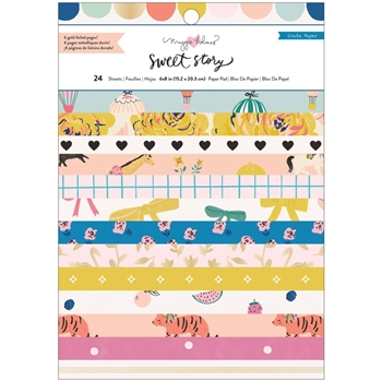 American Crafts Maggie Holmes SWEET STORY 6 x 8 Paper Pad 373068