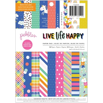 Pebbles Inc. LIFE LIVE HAPPY 6x8 Paper Pad 736919