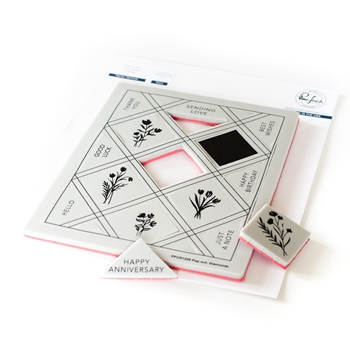 PinkFresh Studio POP OUT DIAMONDS Cling Stamp pfcr1220