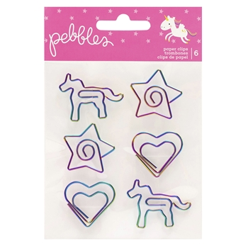 Pebbles Inc. LIFE LIVE HAPPY PAPER CLIPS 736931