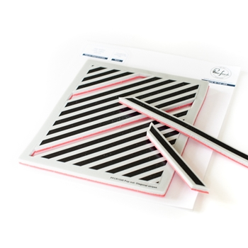 PinkFresh Studio POP OUT DIAGONAL STRIPES Cling Stamp pfcr1520
