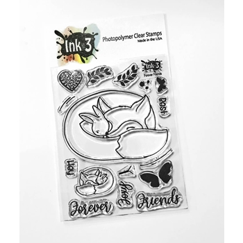 Inkon3 FOREVER FRIENDS Clear Stamps 40703