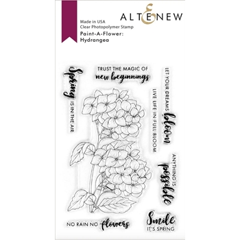 Altenew PAINT A FLOWER HYDRANGEA Clear Stamps ALT4059
