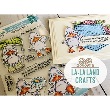 La-La Land Crafts Clear Stamps YOU LUCKY DUCK CL056