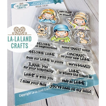 La-La Land Crafts Clear Stamps HELLO THERE CL063
