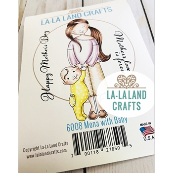 La-La Land Crafts Cling Stamps MONA WITH BABY 6008