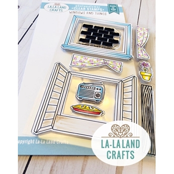 La-La Land Crafts Clear Stamps WINDOWS AND THINGS CL062