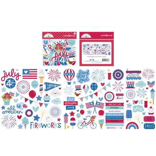 Doodlebug LAND THAT I LOVE Odds and Ends Die Cut Shapes 6808 Preview Image