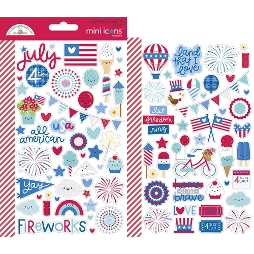 Doodlebug LAND THAT I LOVE Mini Icons Stickers 6790 Preview Image
