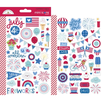 Doodlebug LAND THAT I LOVE Mini Icons Stickers 6790