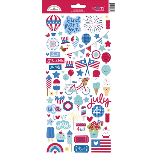 Doodlebug LAND THAT I LOVE Icons Cardstock Stickers 6814 Preview Image