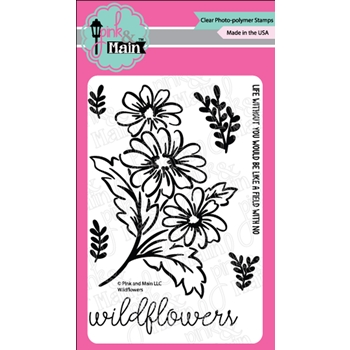 Pink and Main WILDFLOWERS Clear Stamps PM0395