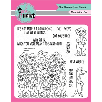 Pink and Main MEERKATS Clear Stamps PM0397*