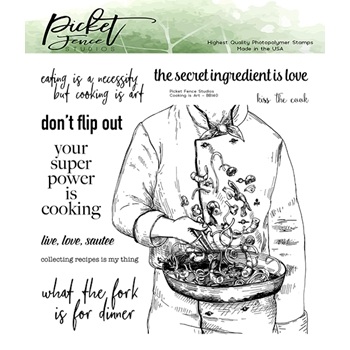 Picket Fence Studios COOKING IS ART Clear Stamps bb140