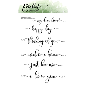 Picket Fence Studios MORE FANCY SENTIMENTS Clear Stamps s171