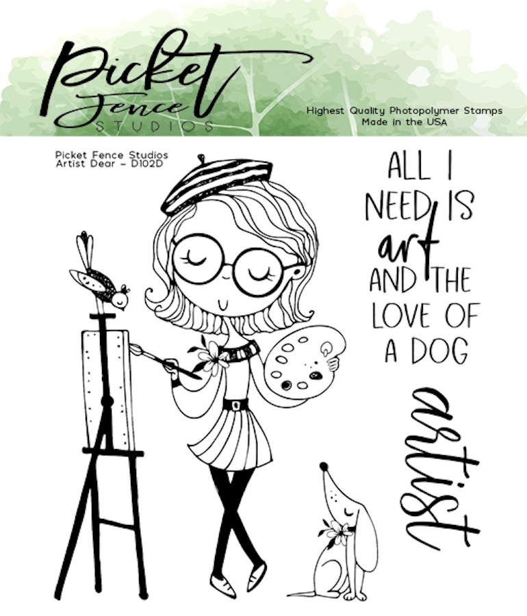 Picket Fence Studios ARTIST DEAR Clear Stamps d102 zoom image