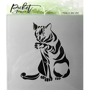 Picket Fence Studios CAT 6x6 Stencil sc163