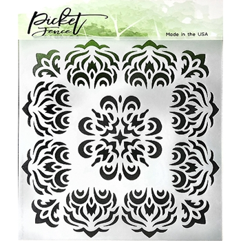 Picket Fence Studios FIRE BURST 6x6 Stencil sc179