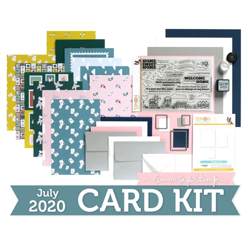 Simon Says Stamp Card Kit of the Month July 2020 HOME SWEET HOME ck0720 Preview Image