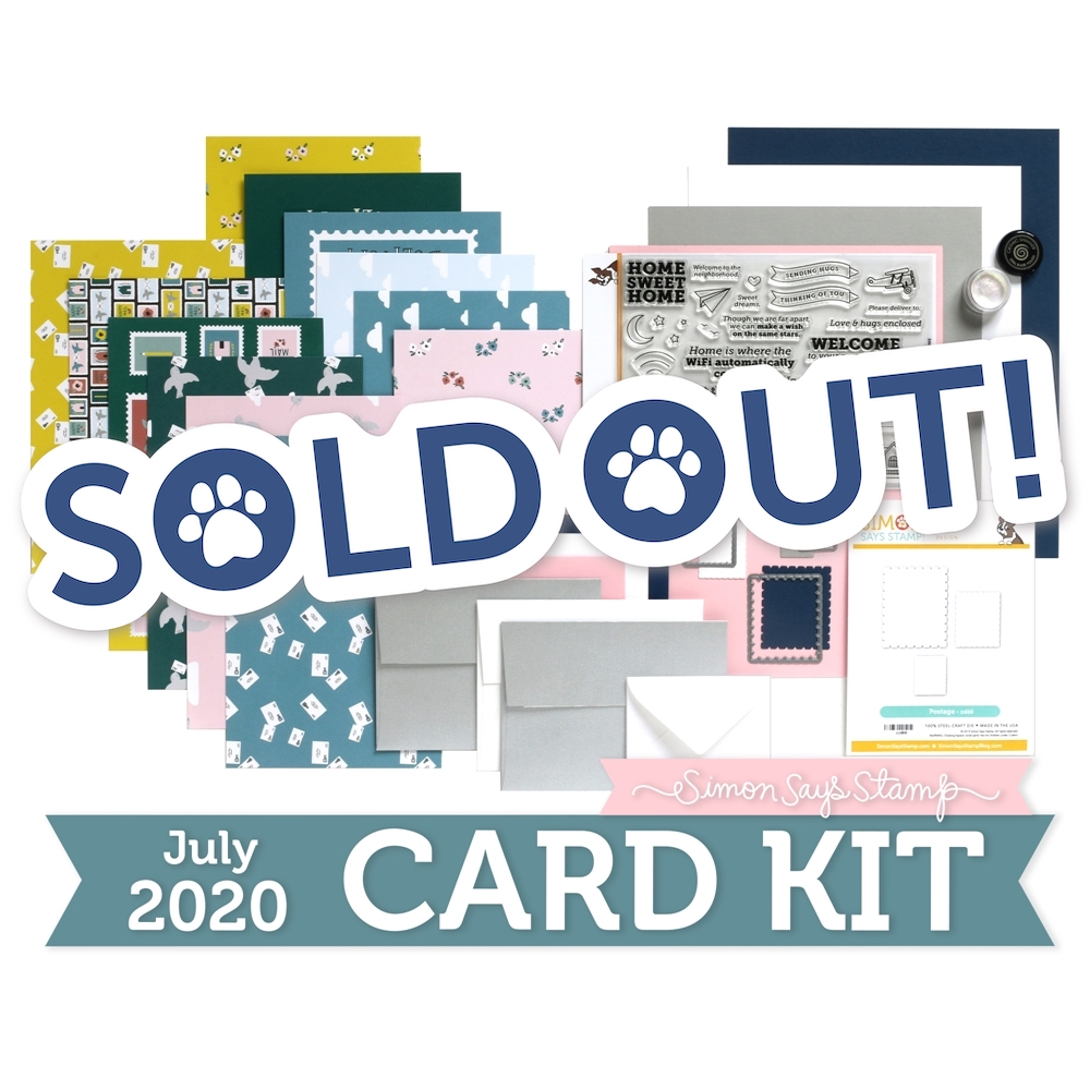 Simon Says Stamp Card Kit of the Month July 2020 HOME SWEET HOME ck0720