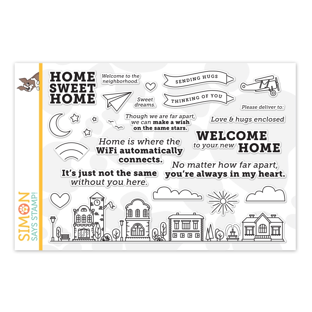 Simon Says Clear Stamps HOME SWEET HOME sss202087 zoom image