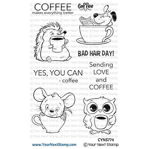 Your Next Stamp COFFEE CHARACTERS Clear cyns774 Preview Image