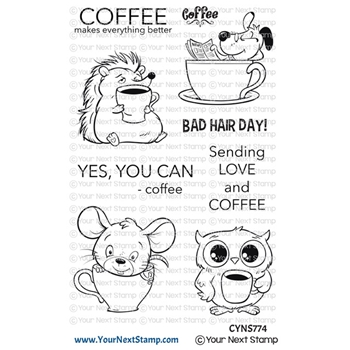 Your Next Stamp COFFEE CHARACTERS Clear cyns774*
