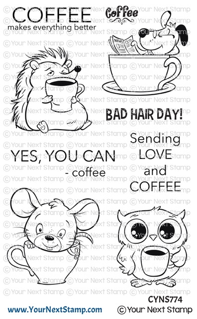 Your Next Stamp COFFEE CHARACTERS Clear cyns774 zoom image