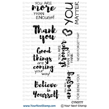 Your Next Stamp POSITIVE AFFIRMATIONS Clear cyns777