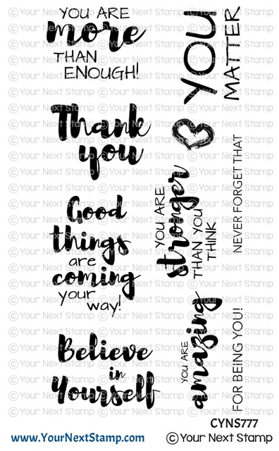 Your Next Stamp POSITIVE AFFIRMATIONS Clear cyns777 zoom image