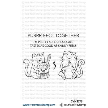 Your Next Stamp PURRRFECT TOGETHER Clear cyns775*