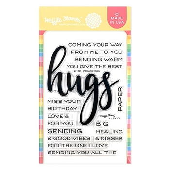 Waffle Flower OVERSIZED HUGS Clear Stamps 271321