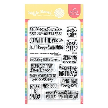 Waffle Flower UNDER THE SEA SENTIMENTS Clear Stamps 271320