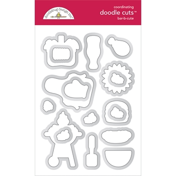 Doodlebug BAR-B-CUTE Coordinating Doodle Cuts Die Set 6889