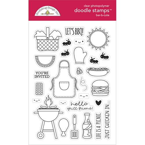 Doodlebug BAR-B-CUTE Doodle Clear Stamps 6888 Preview Image