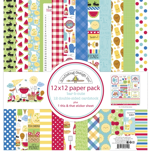 Doodlebug BAB-B-CUTE 12x12 Inch Paper Pack 6912 Preview Image