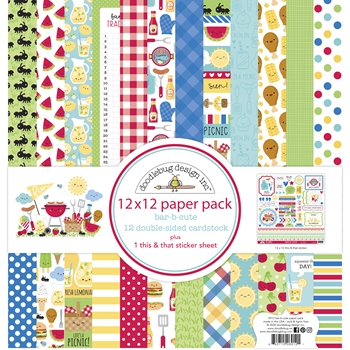Doodlebug BAB-B-CUTE 12x12 Inch Paper Pack 6912