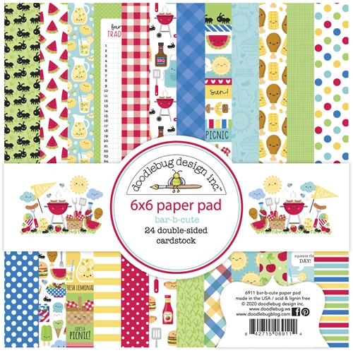 Doodlebug BAR-B-CUTE 6x6 Inch Paper Pad 6911 Preview Image