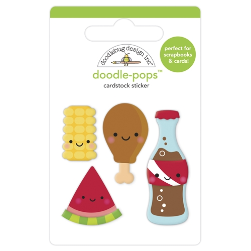 Doodlebug FOODIE FRIENDS Doodle Pops 3D Stickers 6884 Preview Image