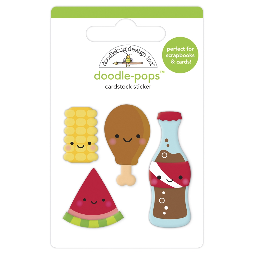 Doodlebug FOODIE FRIENDS Doodle Pops 3D Stickers 6884 zoom image