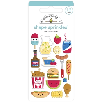 Doodlebug TASTE OF SUMMER Shape Sprinkles Bar-B-Cute 6882