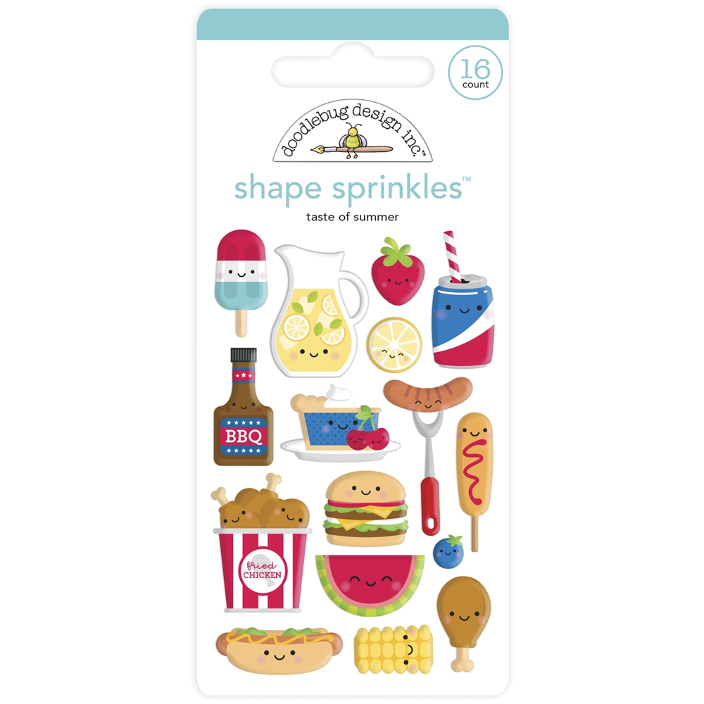 Doodlebug TASTE OF SUMMER Shape Sprinkles Bar-B-Cute 6882 zoom image