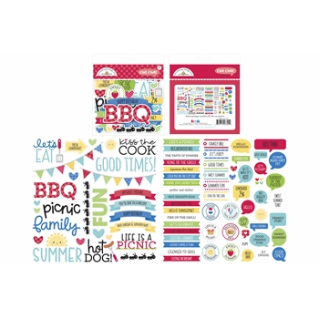 Doodlebug BAR-B-CUTE Chit Chat Ephemera Die Cut Shapes 6890